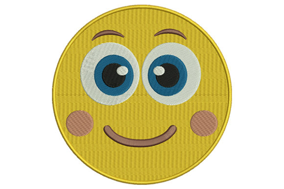 Open Eyes Emoji Boys & Girls Embroidery Design By DigitEMB