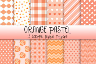 Print on Demand: Orange Pastel Background Graphic Backgrounds By PinkPearly