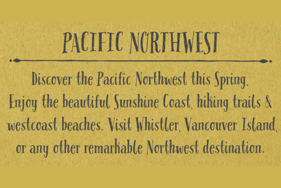 Download Free Pacific Northwest Font By Cultivatedmind Types Creative Fabrica for Cricut Explore, Silhouette and other cutting machines.
