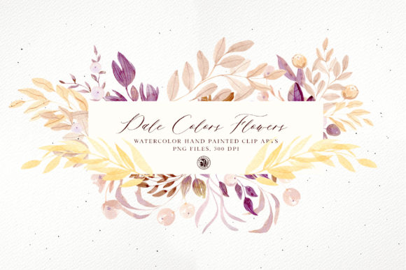Pale Colors Flowers Graphic Illustrations By webvilla