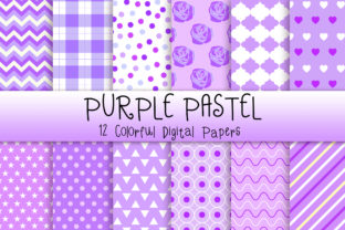 Print on Demand: Purple Pastel Background Graphic Backgrounds By PinkPearly