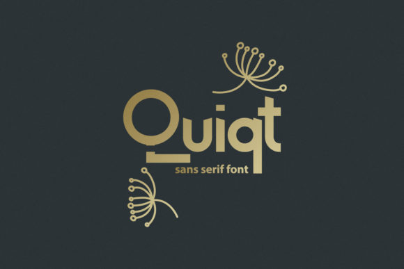 Print on Demand: Quiqt Display Font By BELOVE STUDIO