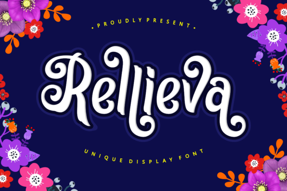Print on Demand: Rellieva Display Font By Holydie Studio - Image 1