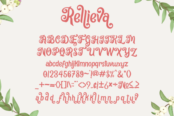 Print on Demand: Rellieva Display Font By Holydie Studio - Image 5