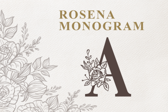 Print on Demand: Rosena Decorative Font By Typefar