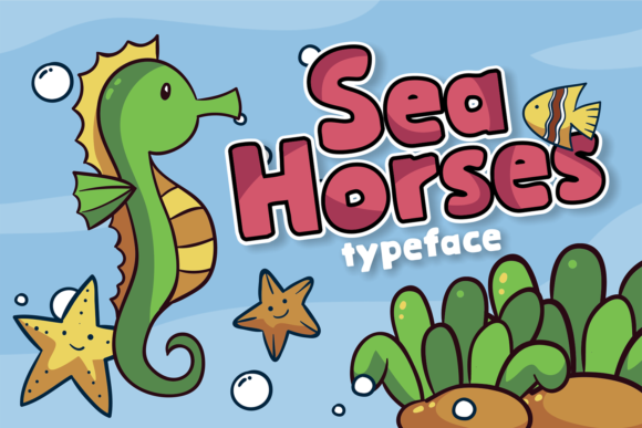 Print on Demand: Sea Horses Display Font By brithostype