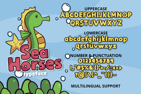Print on Demand: Sea Horses Display Font By brithostype - Image 2