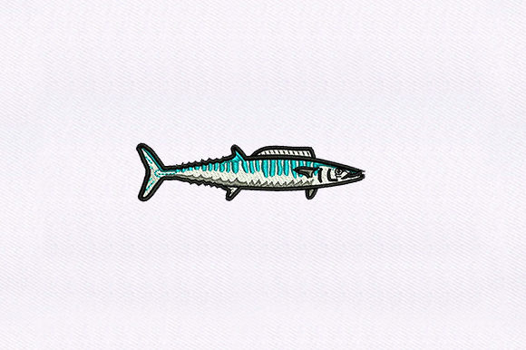 Seafood Wahoo Fish Food & Dining Embroidery Design By DigitEMB