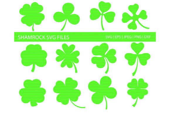 Print on Demand: Shamrock Leaves Clip Art Bundle Graphic Crafts By MeshaArts - Image 1