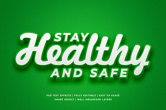 Download Free Stay Healthy Virus 3d Text Effect Mockup Graphic By Syifa5610 for Cricut Explore, Silhouette and other cutting machines.