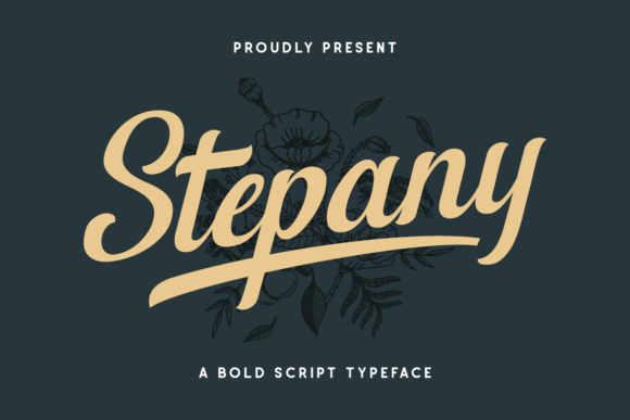 Print on Demand: Stepany Display Font By Runsell Graphic