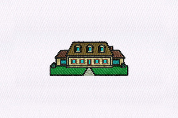 Suburban House House & Home Embroidery Design By DigitEMB