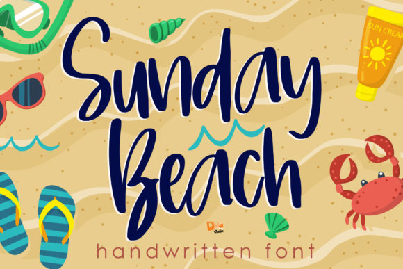 Print on Demand: Sunday Beach Script & Handwritten Font By dmletter31