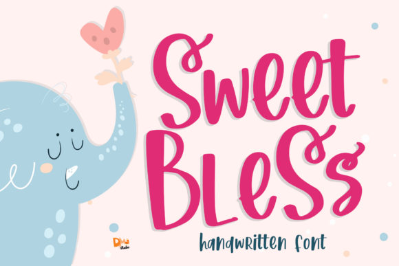 Print on Demand: Sweet Bless Script & Handwritten Font By dmletter31