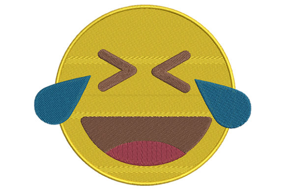 Tears of Joy Emoji Boys & Girls Embroidery Design By DigitEMB