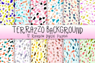 Print on Demand: Terrazzo Background Graphic Backgrounds By PinkPearly