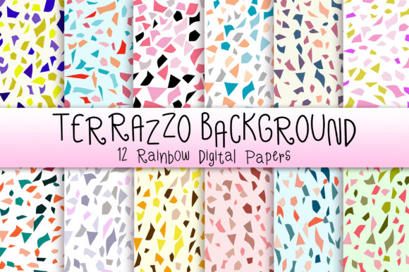 Terrazzo Background Graphic Backgrounds By PinkPearly