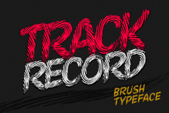 Print on Demand: Track Record Display Font By Situjuh - Image 1