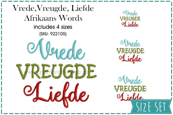 Vrede, Vreugde, Liefde Christmas Embroidery Design By CPEmbroidery Designs