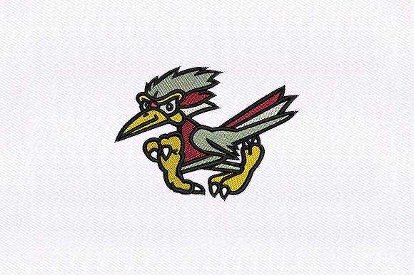 Walking Bird Birds Embroidery Design By DigitEMB
