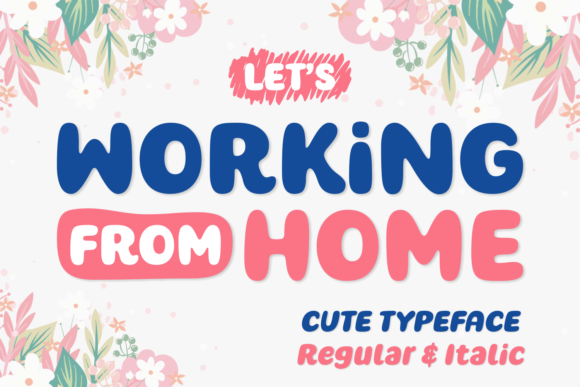 Print on Demand: Working from Home Script & Handwritten Font By Situjuh - Image 1