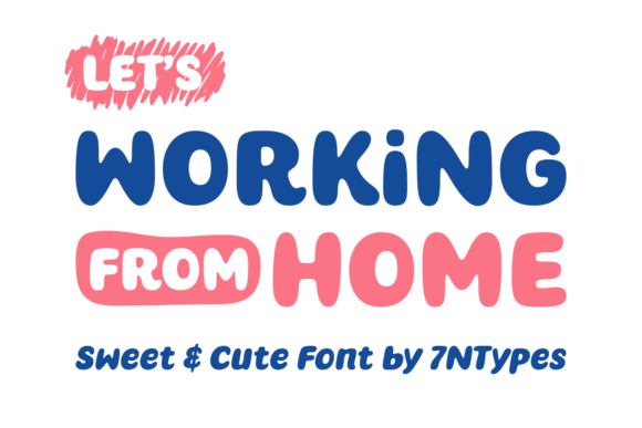 Print on Demand: Working from Home Script & Handwritten Font By Situjuh - Image 6