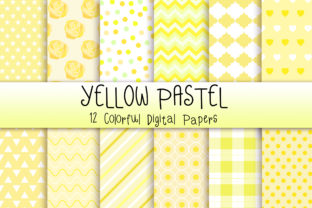 Print on Demand: Yellow Pastel Background Graphic Backgrounds By PinkPearly