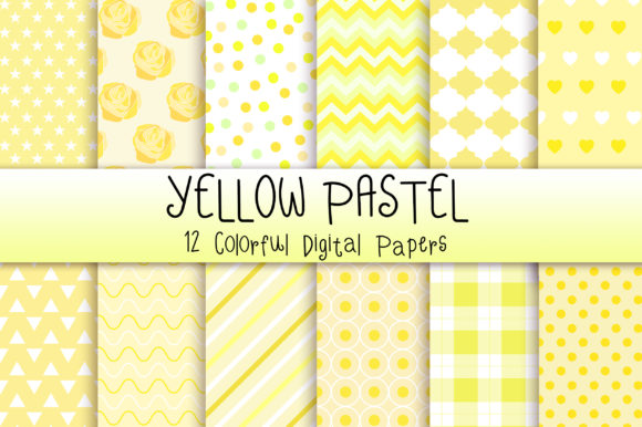 Yellow Pastel Background Graphic Backgrounds By PinkPearly