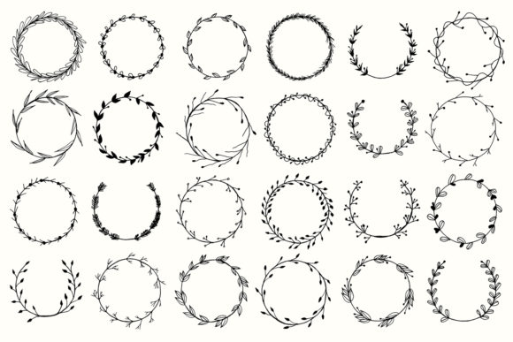 Print on Demand: 25+ Handmade Wreaths Cliparts V2 Graphic Illustrations By Creative Tacos - Image 2