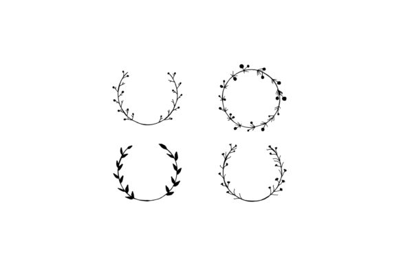 Print on Demand: 25+ Handmade Wreaths Cliparts V2 Graphic Illustrations By Creative Tacos - Image 3