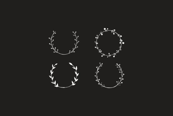 Print on Demand: 25+ Handmade Wreaths Cliparts V2 Graphic Illustrations By Creative Tacos - Image 5