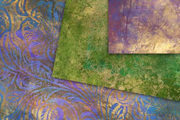 Print on Demand: Abstract Peacock Textres Graphic Textures By Digital Curio - Image 3