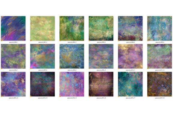 Print on Demand: Abstract Peacock Textres Graphic Textures By Digital Curio - Image 4