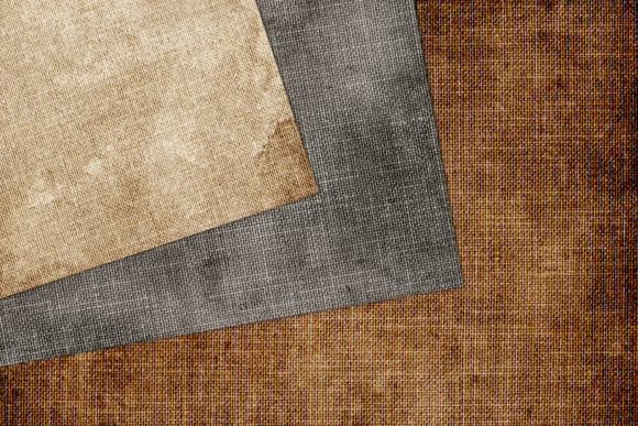 Print on Demand: Aged Linen Digital Paper Graphic Textures By Digital Curio - Image 2