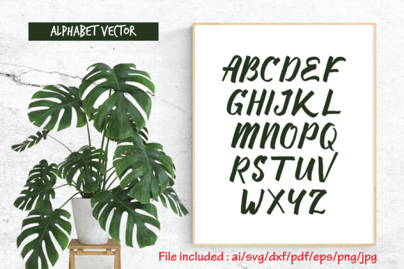 Print on Demand: Alphabet Vector Graphic Crafts By Atjcloth Studio