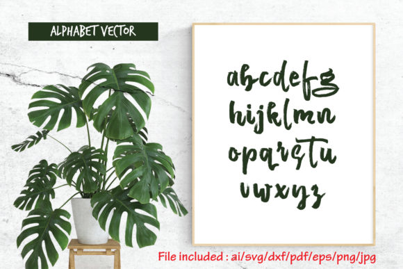 Download Free Alphabet Vector Graphic By Atjcloth Studio Creative Fabrica for Cricut Explore, Silhouette and other cutting machines.