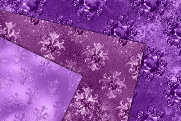 Print on Demand: Amethyst Jewels Digital Paper Graphic Patterns By Digital Curio - Image 3