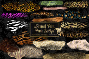 Print on Demand: Animal Print Paint Strokes Clipart Graphic Illustrations By Digital Curio