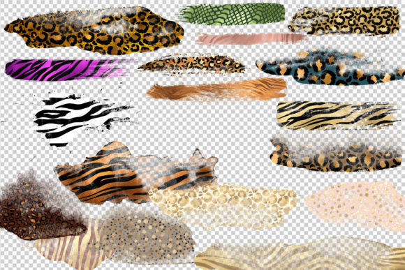 Animal Print Paint Strokes Clipart Graphic Illustrations By Digital Curio - Image 2