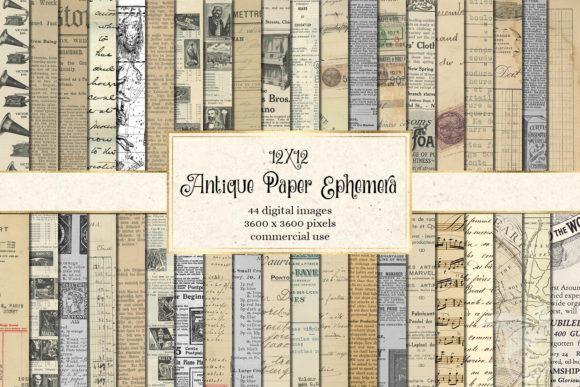 Print on Demand: Antique Paper Ephemera Graphic Textures By Digital Curio