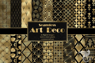 Print on Demand: Art Deco Digital Paper Graphic Patterns By Digital Curio