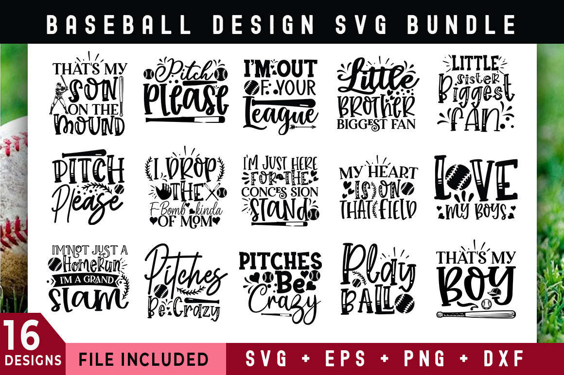 Download Free Baseball Design Bundle Graphic By Subornastudio Creative Fabrica for Cricut Explore, Silhouette and other cutting machines.