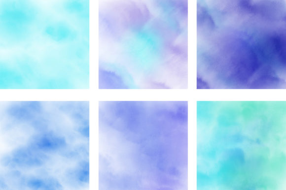 Blue Pastel Ombre Watercolor Background Graphic By Pinkpearly Creative Fabrica