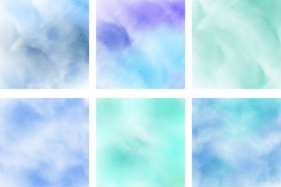 Blue Pastel Ombre Watercolor Background Graphic Backgrounds By PinkPearly - Image 3