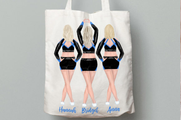 Cheerleaders Clipart Watercolor Girls Graphic Illustrations By LeCoqDesign - Image 6