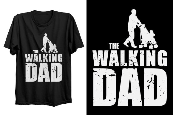 Print on Demand: Dad T-shirt Design Graphic Print Templates By bsakib777
