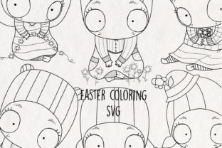 Easter Coloring Graphic Coloring Pages & Books Adults By NotturnoClipArt
