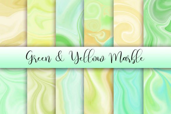 Green Yellow Marble Background Graphic Backgrounds By PinkPearly