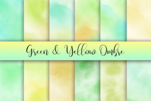 Green Yellow Ombre Watercolor Background Graphic Backgrounds By PinkPearly