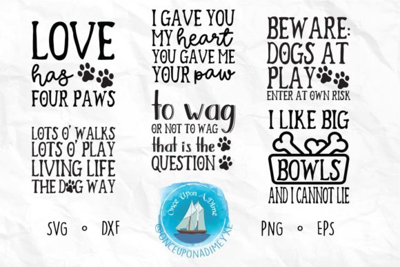 Print on Demand: Pet Life Bundle | Dog & Cat  Graphic Crafts By onceuponadimeyxe